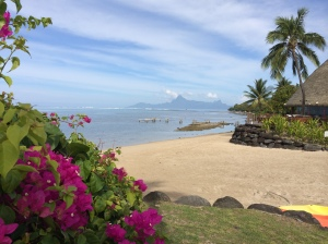 Who wouldn't be inspired by a beach in Tahiti?  I was.